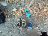 靴を履き替える