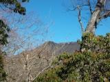 ヨモギ尾根から見た雲取山