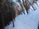 日陰はまだ雪道