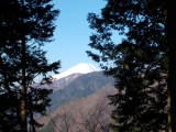 富士山の頂上を望む