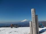塔ノ岳で休憩