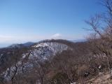 鍋割山と富士山