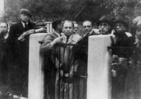 カウナス日本領事館前でビザ発給を訴えるユダヤ人たち