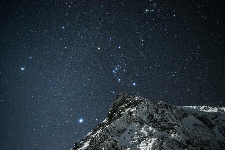 151103 岩峰とオリオン