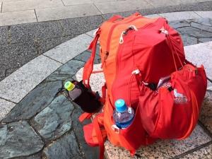 テントなどの荷物