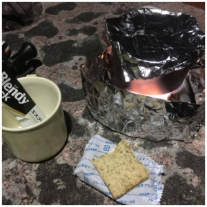 エスビットでお湯を沸かしてスティックコーヒータイム
