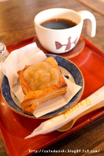 ナノグラフィカ・金斗雲◇青りんごブラムリーのパイ&みのるコーヒ
