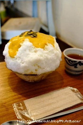 たいやきやゆいのかき氷◇かぼちゃ(北海道)