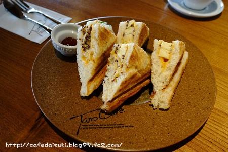 TARO CAFE◇玉子のホットサンド