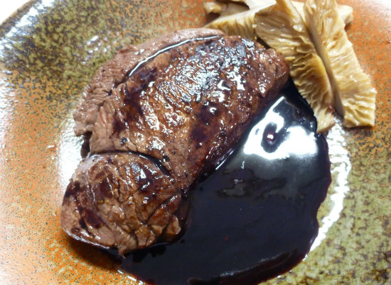 2015.11.13鹿肉ステーキ2