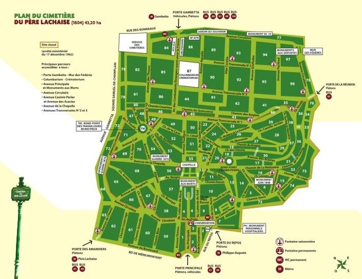 Cimetière-du-Père-Lachaise-Map