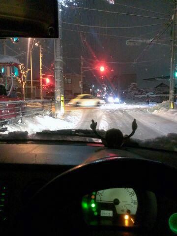 雪国命懸けドライブ