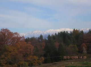 峰道から立山