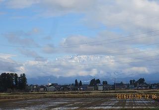 雲間に立山
