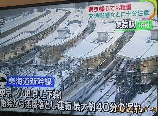 東京都心雪