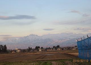 夕方の立山