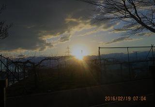 雨水の日の出