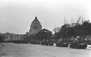 2・26事件(国会周辺を警戒する陸軍の洗車と兵隊