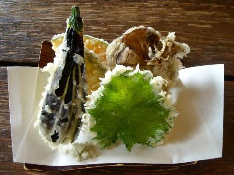 薬師そば・H27・4 野菜天ぷら