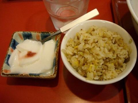 花果山・H27・4 ミニチャーハン 杏仁豆腐