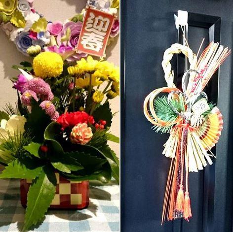 新年のお花と玄関の飾り