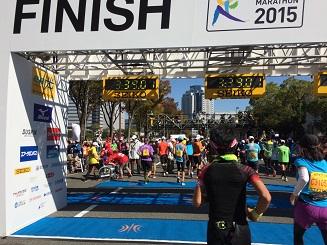 大阪マラソン2015 ( finish )