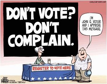 Don't vote? Don't complain!