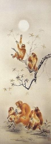 日本画 ( 猿 作:山田邦人 )