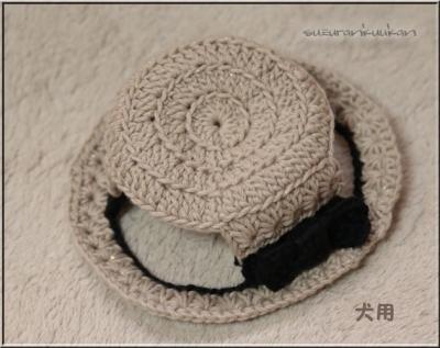 カンカン帽2 内周28cm ラメ入り亜麻色