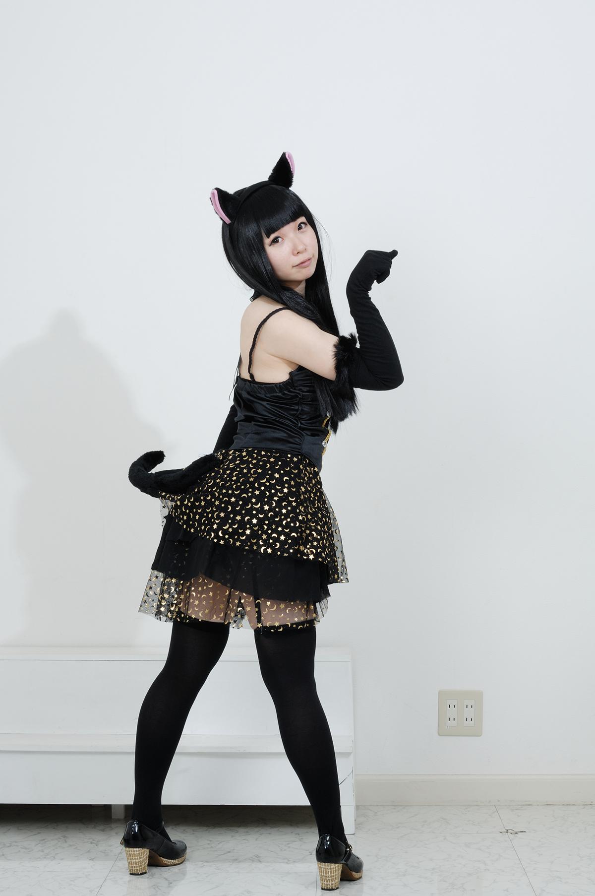 黒猫/手作り衣装