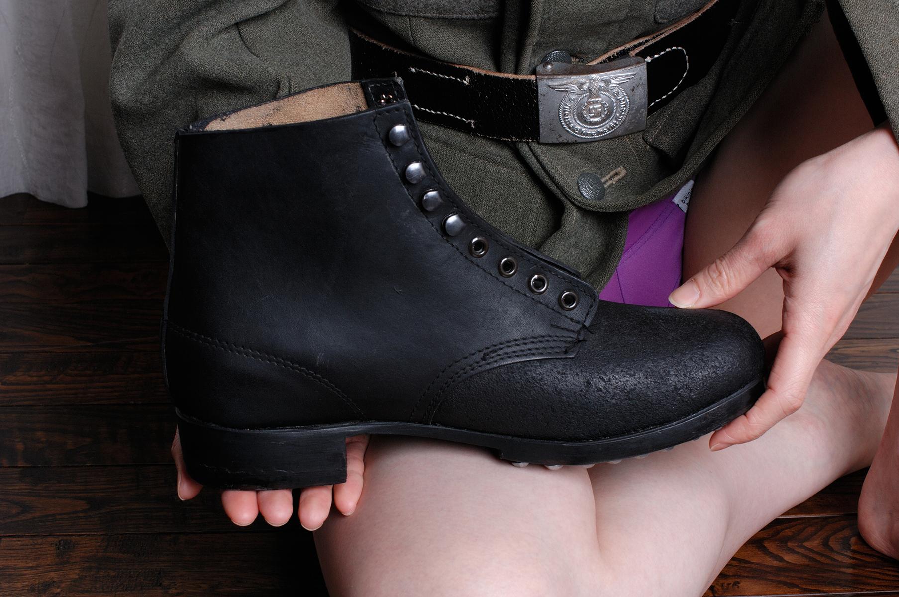 黒革アンクルブーツ/米国SMW社製