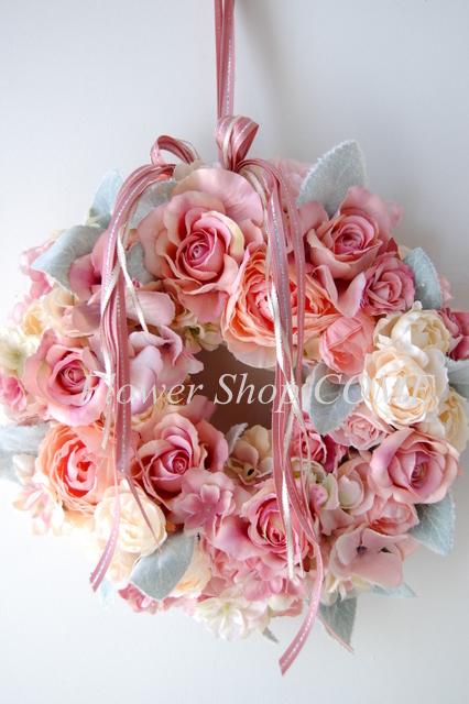 リースブーケ 個性的 ウェディング かわいい ピンク