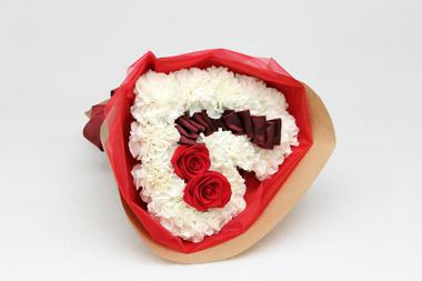 ハート 花束 ホワイトデー バラ カーネーション 花夢
