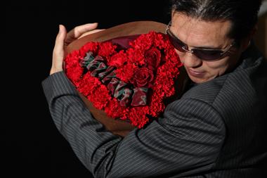 ホワイトデー お返し ハート型 花束 バラ 豊川 花屋 花夢