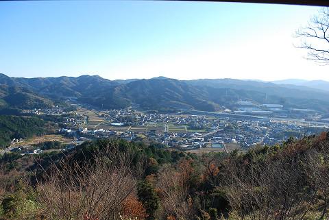 樫山の街が見下ろせた