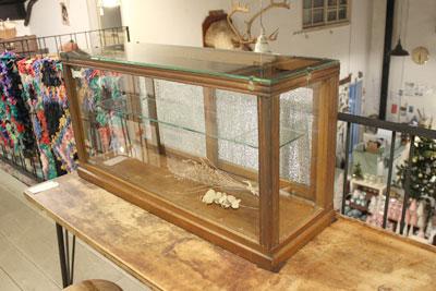 古いガラスケース 店舗什器 ディスプレイ 陳列棚 インテリア