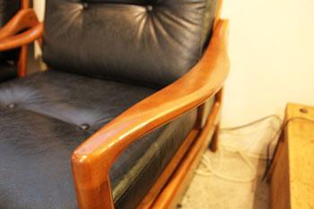カリモク フレームチェア ビンテージ カフェ 1シーター
