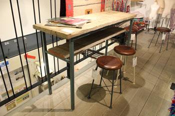 カウンターテーブル カフェ 店舗什器 古材 リメイク家具 リデザイン