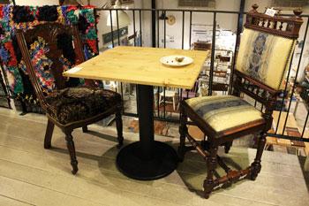 カフェ カフェテーブル 1本脚 リメイク 店舗什器 飲食店