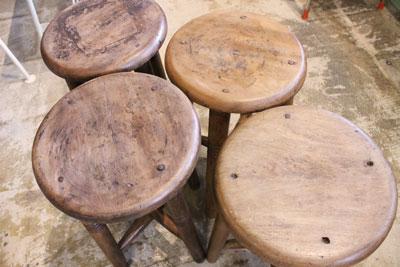 木製 木味 スツール 腰掛け 古道具