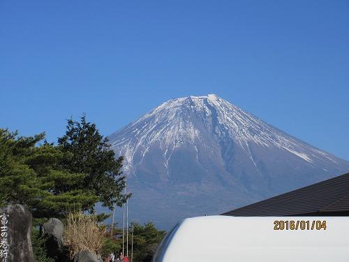 富士山、雪少ないね