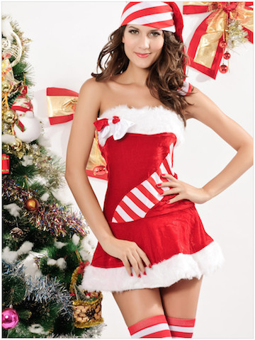 熱い販売のエロ下着の衣装クリスマスジングルベルサンタクロース衣装セクシーな女性のための映画のコスプレ衣装-cc002a