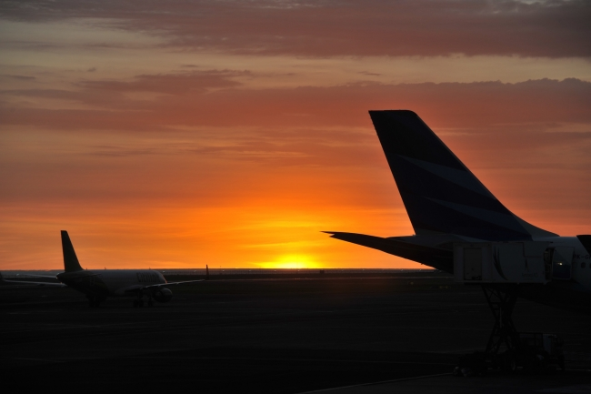 Denpsar Airport Sunset