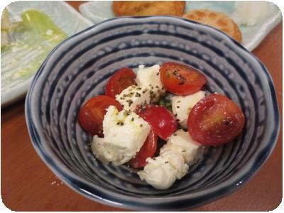 クリームチーズとトマト