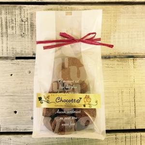 きなこ&カカオのチョコクッキー♪