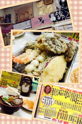 堺の漁港市場内 深夜に行列ができる天ぷら屋さん