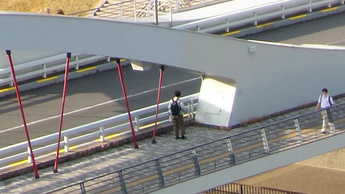 ゼンフォンズームで橋を撮影デジタル12倍