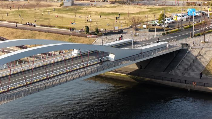 ゼンフォンズームで橋を撮影3倍