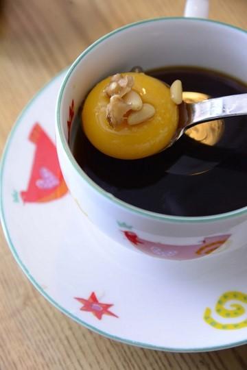 ソウルの喫茶店メニュー 生卵コーヒー
