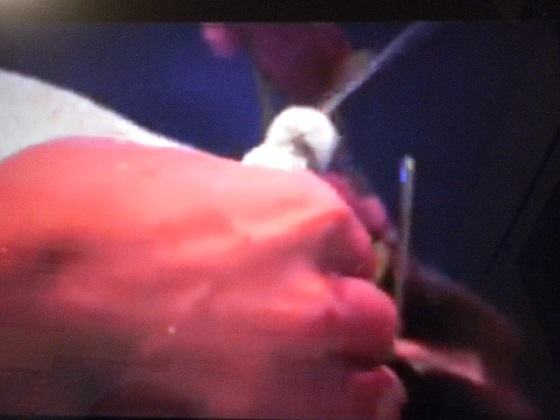 増山麗奈が母乳を飛ばし散らすシーンBody Paint Show @新宿MARZ 増山麗奈 他DSCN1085